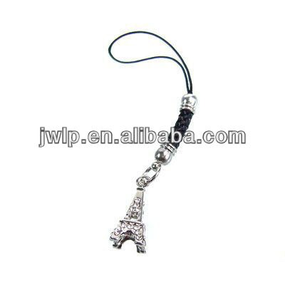 Nice eiffel tower shaped cellphone strap souvenir mobile phone ornaments mobile chains phone straps