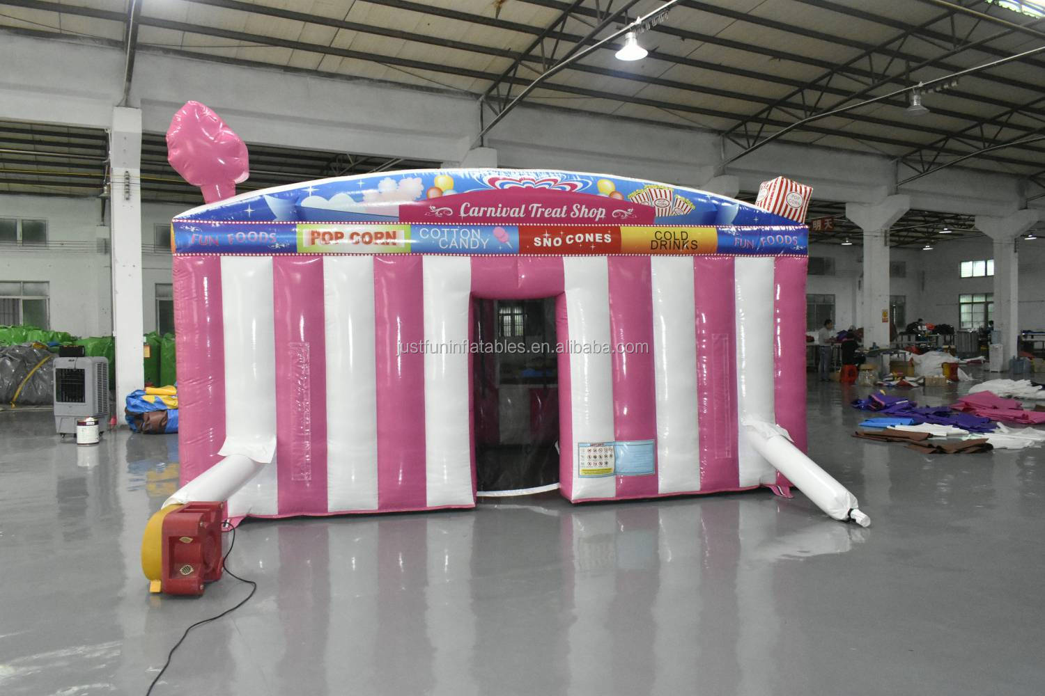 beauty commercial popcorn inflatable trade show tent for party n events