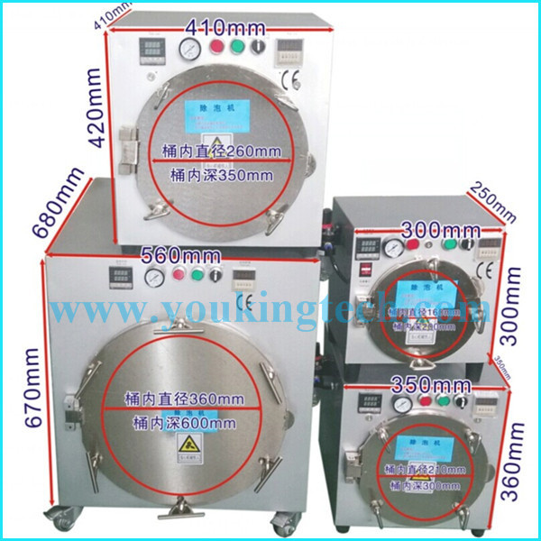 Factory price Air bubble removing machine for mobile lcd touch panel repair refurbish