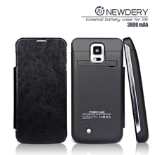 External Battery Power Case for Samsung Galaxy S5 with Stand Flip Cover handy charger