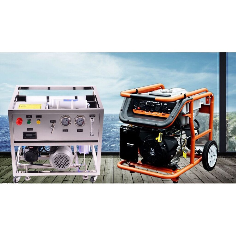 Petrol and gasoline powered fishing boat used Portable seawater desalination RO plant