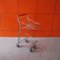 black hand shopping basket cart trolley for double baskets