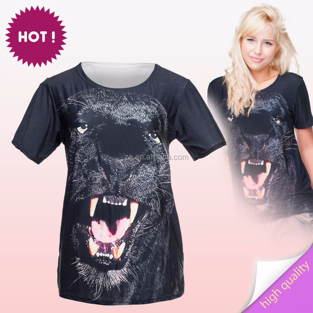 animals printed 3d t-shirt manufacturers in usa