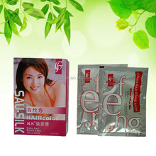 30ml*2 sau-silk sachet permanent hair color