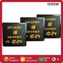 OEM/ODM Electric large LED digital calendar wall clock Custom Electric calendar clock