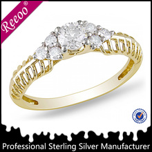 Vogue designer wedding gold rings new model 2013