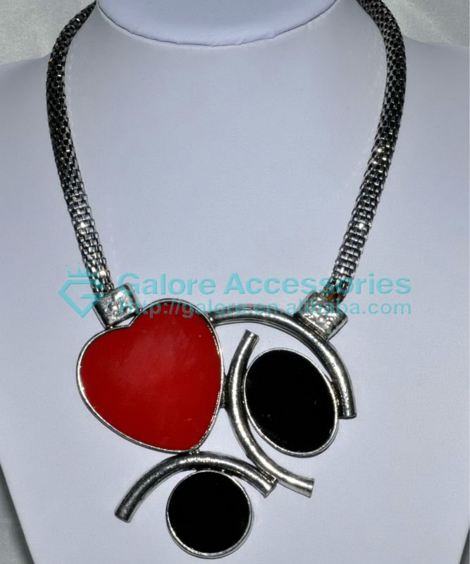 indian punk heart ruby necklace designs cheap price
