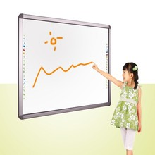 factory supply infrared multi touch ultrasonic interactive whiteboard 82 for smart learning with touch sensor