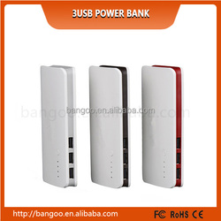 Free shipping NEW High Quality Triple USB 20000mAh Power Bank 20000MAH Backup Power External Battery