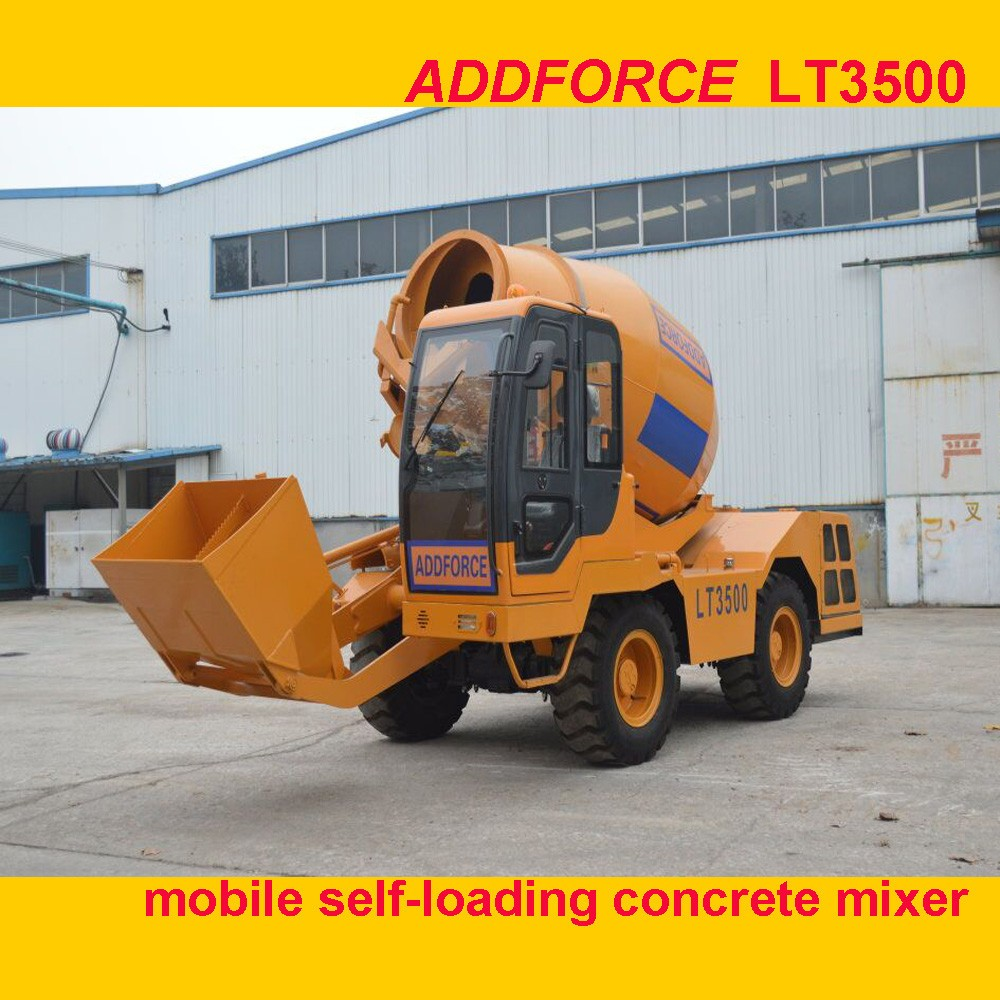 High Quanlity Self Loading Mobile Concrete Mixer With Spare Parts ,Widely Used Portable Concrete Mixer For Sale