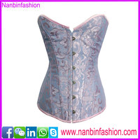 wholesale overbust steel bone hot sex blue photo corset