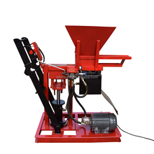hydraulic soil brick machine ECO interlocking clay brick making machine/small home production earth block machinery