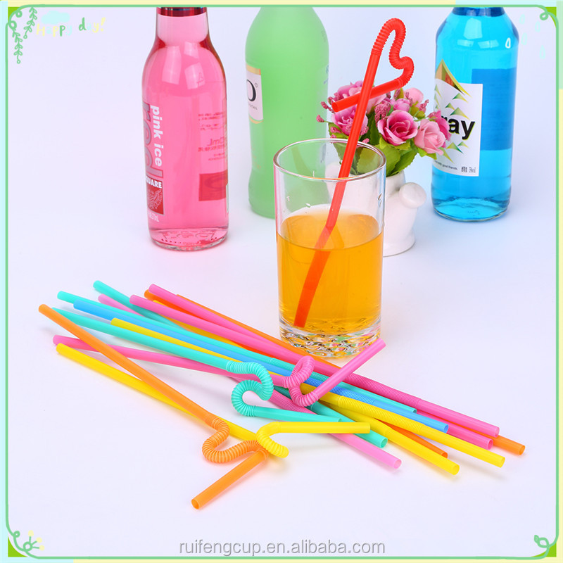 Crazy plastic pp long flexible drinking straw