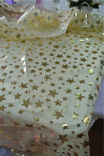 snowflake printed organza flower wrapping crystal organza fabric snowflake organza for frozen elsa costume