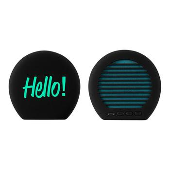 2019 New Design Portable Customizable  Wireless Bluetooth Speaker With Led Light up Logo