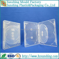 China Factory 25mm PP clear multi 8 discs dvd case