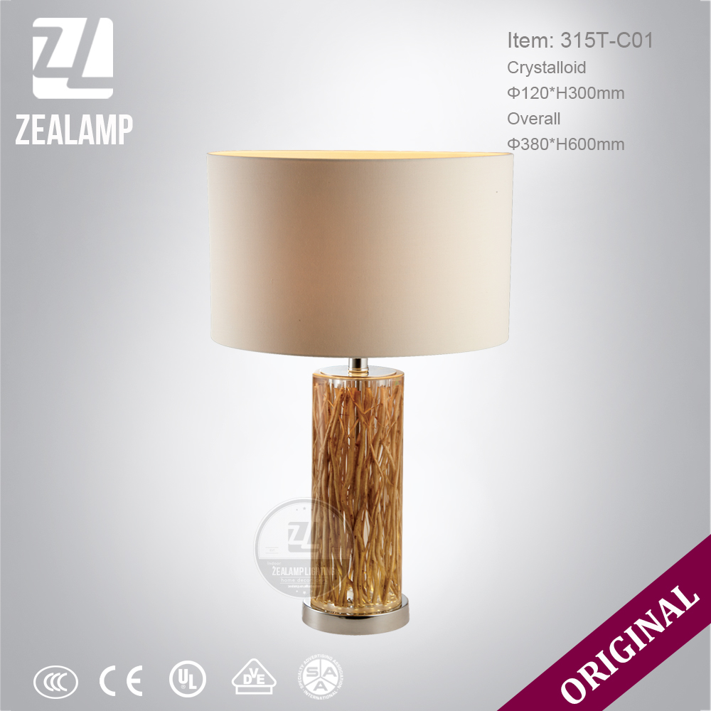DIY Tree Root Resin Luxury Unique Amber Table Lamps Modern Hotel Table Lamp