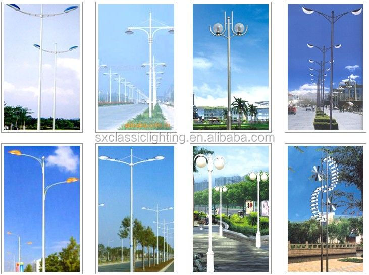 galvanized CE steel poles galvanised steel poles lighting pole garden lamp post