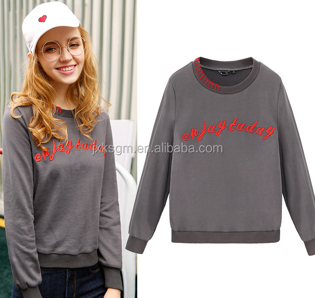 Cheapest Wholesale Custom Womens Embroidered Crewneck Sweatshirt Professional Nanchang manufacturer Wholesale