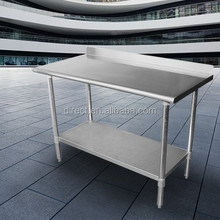 S / S 304 Flat Top travail Tables