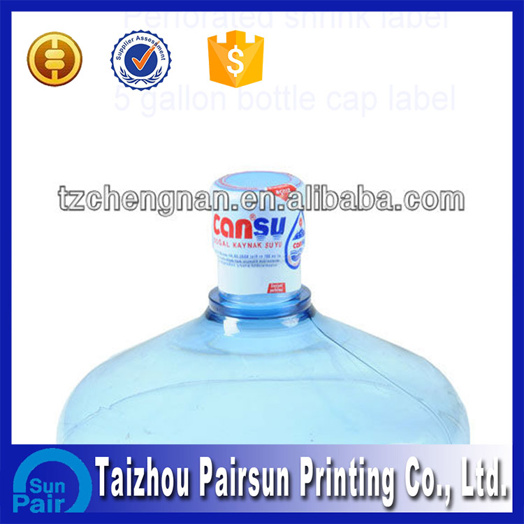 Perforated PVC Heat Shrink Cap Seal Label for bottles