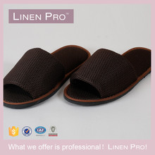 LinenPro Open Toe Indoor Slippers Men Bedroom Slippers