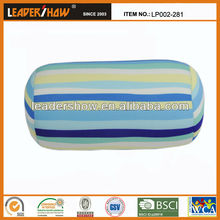 Column shape and cozy air beads pillow tube soft back cushion for head rest travel pillow