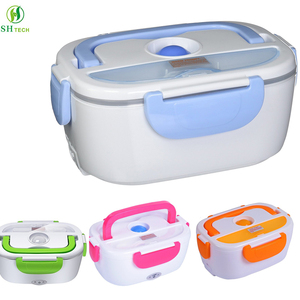 110V/220V 1.05L Plastic Portable Tiffin Bento Thermo Food Warmer Lunch Box Electric