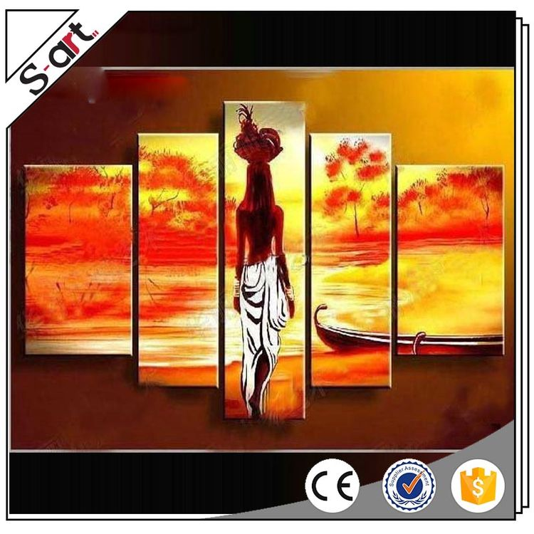 Customized beautiful group decorative landscape oil paintings