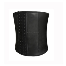 black latex men waist cincher body shaper