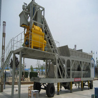 Types mechanical plant YHZS40 mobile concrete batching plant for sale