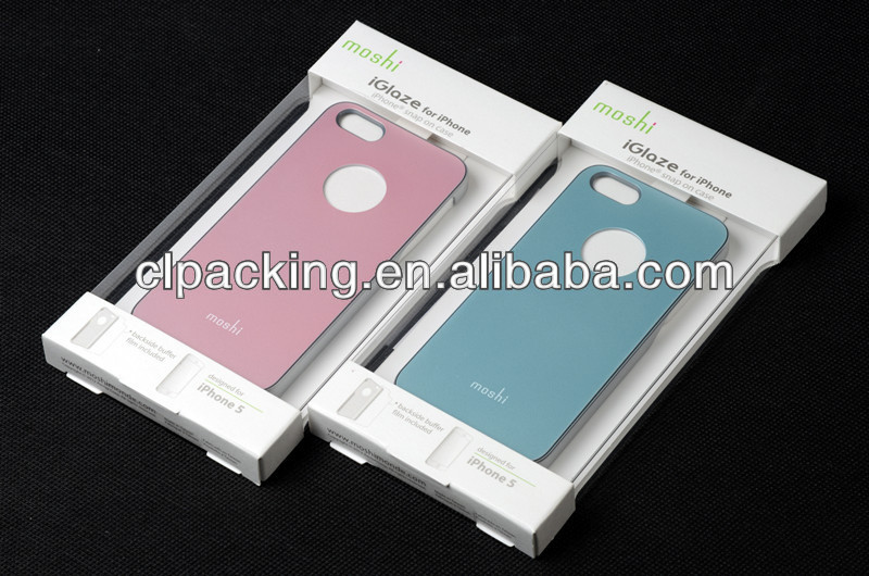 Clear plastic retail box packing for phone case
