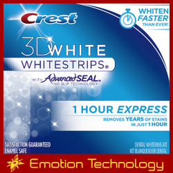 Crest 3D White Whitestrips 1 Hour Express crest whitestrips