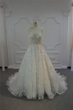 Elegant bridal dresses ivory wedding dress short sleeve