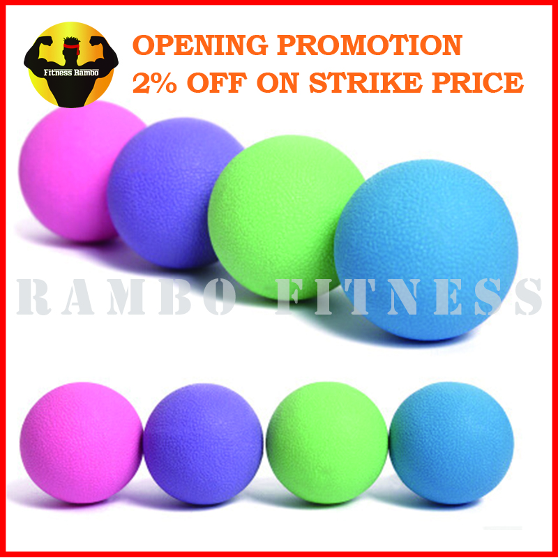 Color Rubber Lacrosse Massage Ball