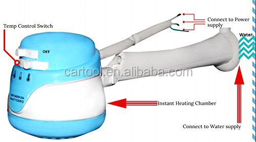 Electric Instant Hot Water Shower Head Heater