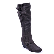 Made in china new design fashion boots comfortable women leather boot large size 36-45