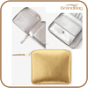 metallic leather zip wallet with card slot mini wallet purse pocket organiser purse with coin pocket for women