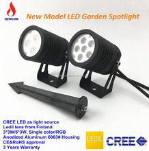 led garden spike spot lights with CE ROHS18W 9W Outdoor lndscape lighting