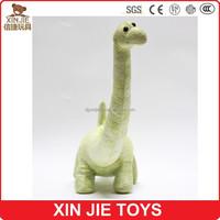 dong guan factory long neck plush green dinosaur toy