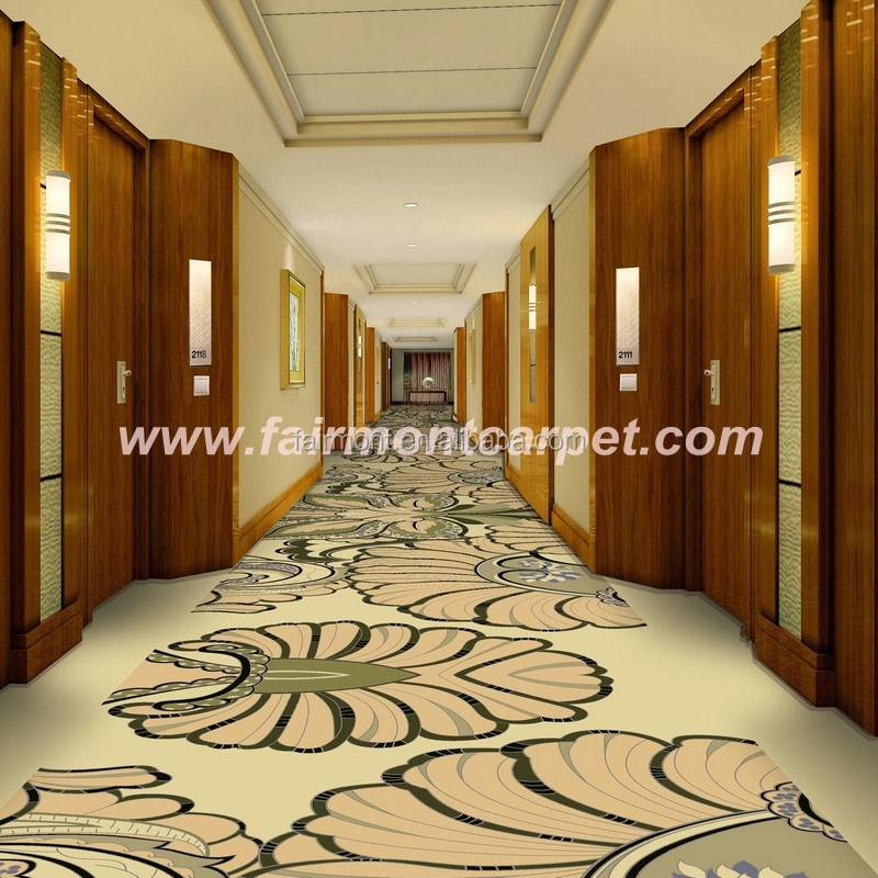 100% Nylon Printed Carpet For Hotel Corridor Use