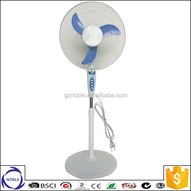 3pp blade 45w 110v/220v 16inch round base electric stand fan