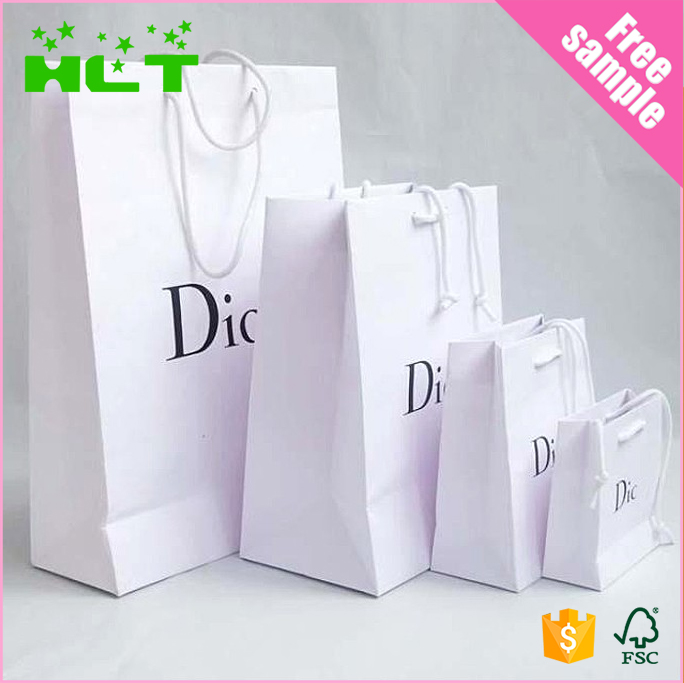 Low price custom printed coated paper shopping bag manufacturer