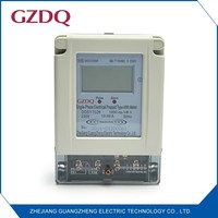 New type smart IC card single phase electronic LCD display digital electric prepaid meter