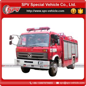 Dongfeng 5000 liter water and 1500 liter foam fire fighting truck