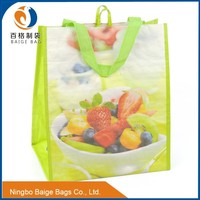 recyclable pp woven plastic tote bag with flexo printing