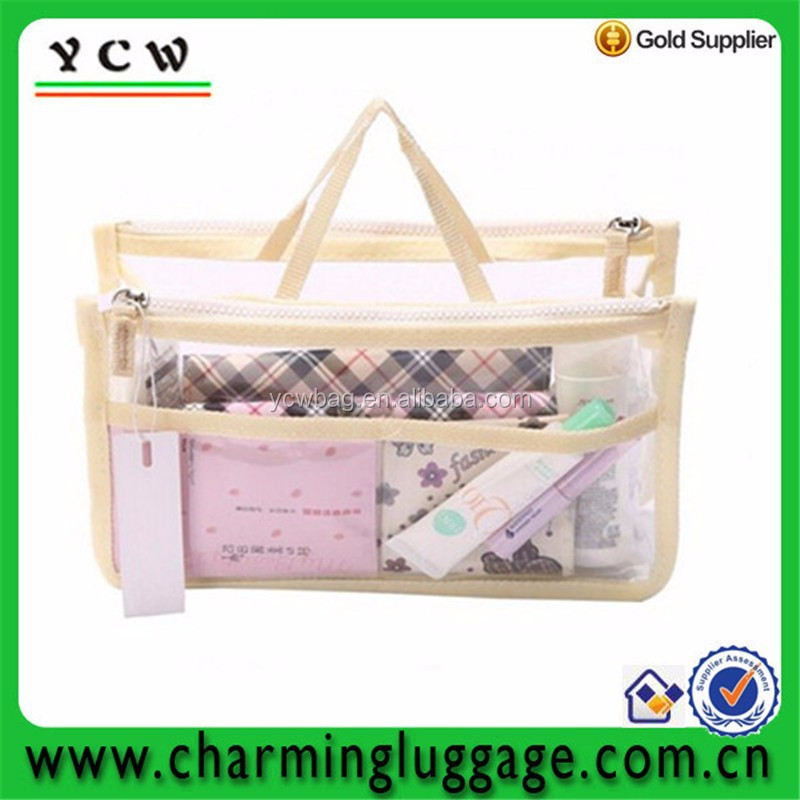 two zippers manufacturer Clear Clean Washing transparent toiletry Bag