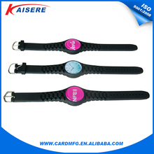 Free sample are available! 2016 newest custom logo epoxy coin rfid silicone wristband