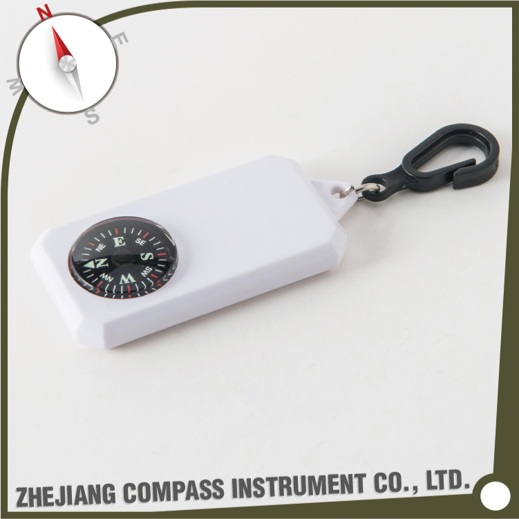 High quality plastic mini custom logo key ring compass for promotional gift