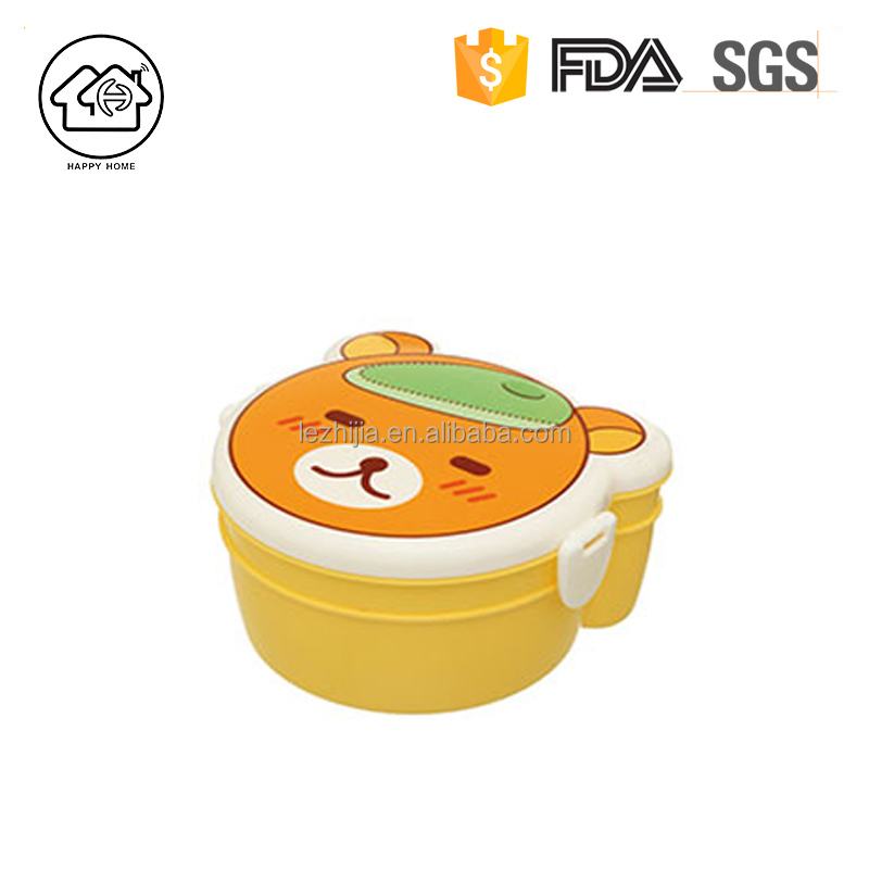 plastic recycled mini animal shape baby bowl tableware lunch box